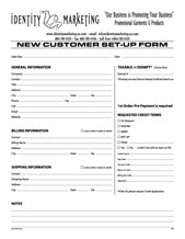 New Customer Form - Click to Download